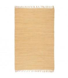 Χαλί Chindi Χειροποίητο Μπεζ 80 x 160 εκ. Βαμβακερό   245200
