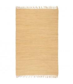 Χαλί Chindi Χειροποίητο Μπεζ 120 x 170 εκ. Βαμβακερό   245201