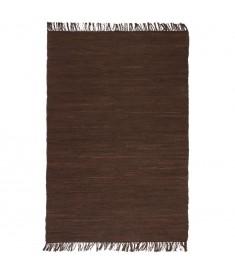 Χαλί Chindi Χειροποίητο Καφέ 80 x 160 εκ. Βαμβακερό   245208