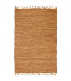 Χαλί Chindi Χειροποίητο Ταμπά 80 x 160 εκ. Δερμάτινο   245224