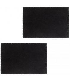 Πατάκια Εισόδου 2 τεμ. Μαύρα 17 χιλ. 50x80 εκ. από Κοκοφοίνικα   132648