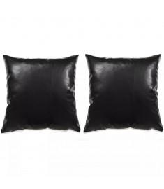 Σετ Μαξιλαριών 2 τεμ. Μαύρο 45 x 45 εκ. από Πολυουρεθάνη  132924