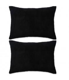 Σετ Μαξιλαριών 2 τεμ. Μαύρο 40 x 60 εκ. Βελουτέ