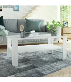 Τραπεζάκι Σαλονιού Λευκό 100 x 59 x 42 εκ. από Μοριοσανίδα  244857