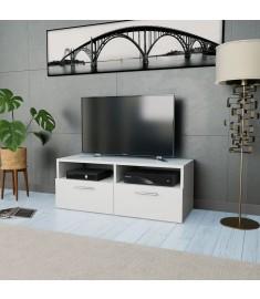 Έπιπλο Τηλεόρασης Λευκό 95 x 35 x 36 εκ. από Μοριοσανίδα   244867