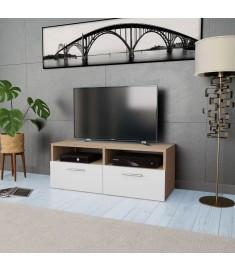 Έπιπλο Τηλεόρασης Δρυς / Λευκό 95 x 35 x 36 εκ. από Μοριοσανίδα   244869