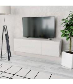 Έπιπλο Τηλεόρασης Γυαλιστερό Λευκό 120x40x34 εκ. Μοριοσανίδα  244870