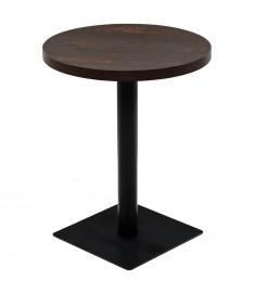 Τραπέζι Bistro Στρογγυλό Σκούρο Σταχτί 60 x 75 εκ. MDF / Ατσάλι   245609