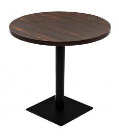 Τραπέζι Bistro Στρογγυλό Σκούρο Σταχτί 80 x 75 εκ. MDF / Ατσάλι   245610