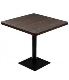 Τραπέζι Bistro Τετράγωνο Σκούρο Σταχτί 80x80x75 εκ. MDF/Ατσάλι   245611