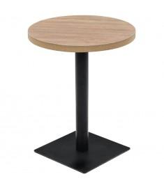 Τραπέζι Bistro Στρογγυλό Χρώμα Δρυός 60 x 75 εκ. MDF / Ατσάλι  245612