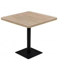 Τραπέζι Bistro Τετράγωνο Χρώμα Δρυός 80x80x75 εκ. MDF/Ατσάλι  245614