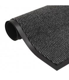Πατάκι Απορροφητικό Σκόνης Ορθογώνιο Ανθρακί 80x120 εκ Θυσανωτό   132710