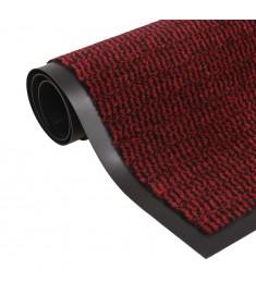 Πατάκι Απορροφητικό Σκόνης Ορθογώνιο Κόκκινο 80x120 εκ Θυσανωτό   132712