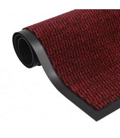 Πατάκι Απορροφητικό Σκόνης Ορθογώνιο Κόκκινο 90x150 εκ Θυσανωτό   132716