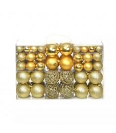 Σετ Μπάλες Χριστουγεννιάτικες 100 τεμ. Χρυσές 6 εκ.  245708