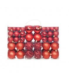 Σετ Μπάλες Χριστουγεννιάτικες 100 τεμ. Κόκκινες 6 εκ.  245710