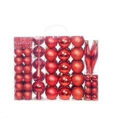 Σετ Μπάλες Χριστουγεννιάτικες 113 τεμ. Κόκκινες 6 εκ.  245711