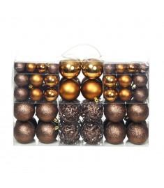 Σετ Μπάλες Χριστουγεννιάτικες 100 τεμ. Καφέ/Μπρονζέ/Χρυσές 6 εκ  245714