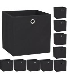 Κουτιά Αποθήκευσης 10 τεμ. Μαύρα 32x32x32 εκ. Ύφασμα Non-woven  245746