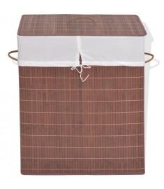 Καλάθι Απλύτων Ορθογώνιο Καφέ από Μπαμπού   245579