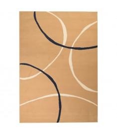 Χαλί Μοντέρνο με Σχέδιο Κύκλων Καφέ 80 x 150 εκ.   133007