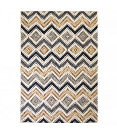 Χαλί Μοντέρνο με Σχέδιο Ζιγκ-Ζαγκ Καφέ/Μαύρο/Μπλε 80 x 150 εκ.   133012