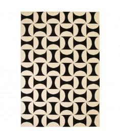 Χαλί Μοντέρνο με Γεωμετρικό Σχέδιο Μπεζ/Μαύρο 80 x 150 εκ.   133032