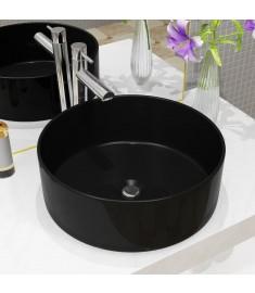 Νιπτήρας Στρογγυλός Μαύρος 40 x 15 εκ. Κεραμικός   142737