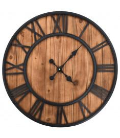 Ρολόι Τοίχου Vintage XXL 60 εκ Ξύλο/Μέταλλο με Μηχανισμό Quartz  50646