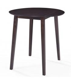 Τραπέζι Μπαρ Σκούρο Καφέ 90 x 91 εκ. από Μασίφ Ξύλο  245544