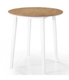Τραπέζι Μπαρ Φυσικό Χρώμα 90 x 91 εκ. από Μασίφ Ξύλο  245545