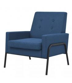 Πολυθρόνα Μπλε από Ατσάλι και Ύφασμα  245524
