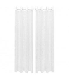 Κουρτίνες Διάφανες Warp Knit 2 τεμ. Κλαδιά Λευκές 140 x 175 εκ.  133128