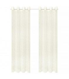Κουρτίνες Διάφανες Warp Knit 2 τεμ. Κλαδιά Κρεμ 140 x 245 εκ.   133133