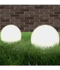 Φωτιστικά Μπάλα LED 2 τεμ. Σφαιρικά 20 εκ. Ακρυλικά (PMMA)  50654