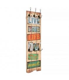 Κρεμάστρα Τοίχου «LIVE LIFE» με 6 Γάντζους 120 x 40 εκ.   245849