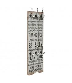 Κρεμάστρα Τοίχου «THANK YOU» με 6 Γάντζους 120 x 40 εκ.   245850