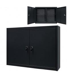 Ντουλάπι Εργαλείων Επιτοίχιο Μαύρο 80 x 19 x 60 εκ. Μεταλλικό  245967