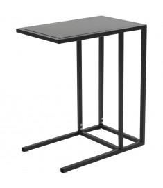 Τραπέζι Βοηθητικό Σχήματος «C» Μαύρο 35 x 55 x 65 εκ. Μεταλλικό  245970