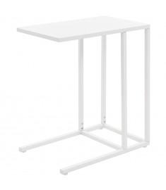 Τραπέζι Βοηθητικό Σχήματος «C» Λευκό 35 x 55 x 65 εκ. Μεταλλικό   245971