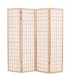 Παραβάν Ιαπωνικού Στιλ με 4 Πάνελ Πτυσσόμενο Φυσικό 160x170 εκ.  245902