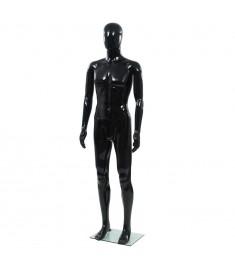 Κούκλα Βιτρίνας Ανδρική Γυαλιστ. Μαύρη 185 εκ. με Γυάλινη Βάση   142927