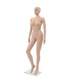 Κούκλα Βιτρίνας Γυναικεία Σέξι Μπεζ 180 εκ. με Γυάλινη Βάση    142930