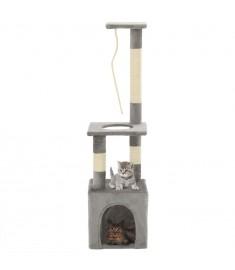 Γατόδεντρο Γκρι 109 εκ. με Στύλους Ξυσίματος από Σχοινί Σιζάλ  170602