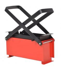Συσκευή Κατασκευής Μπρικετών Μαύρο/Κόκκινο 34x14x14 εκ. Ατσάλι   142921