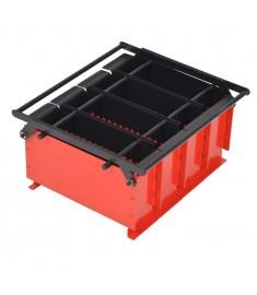 Συσκευή Κατασκευής Μπρικετών Μαύρο/Κόκκινο 38x31x18 εκ. Ατσάλι  142922