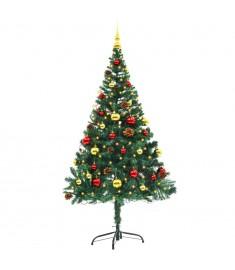 Χριστουγεννιάτικο Δέντρο Στολισμένο Μπάλες/LED Πράσινο 150 εκ.  246392