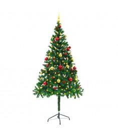 Χριστουγεννιάτικο Δέντρο Στολισμένο Μπάλες/LED Πράσινο 180 εκ.  246393