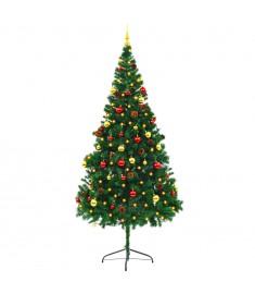 Χριστουγεννιάτικο Δέντρο Στολισμένο Μπάλες/LED Πράσινο 210 εκ.  246394